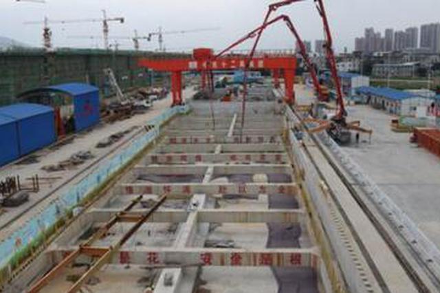 榕地铁5号线高仕路站主体封顶 该线首个主体封顶车站