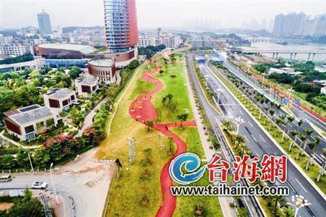 漳州高新区佰翔北侧地块绿化工程完工 达1.8万平方米