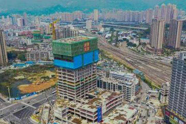 福州火车站南广场西楼年底竣工 将成交通枢纽型商圈