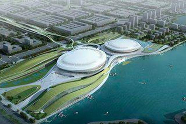 晋江市第二体育中心三场馆主体结构完成(图)