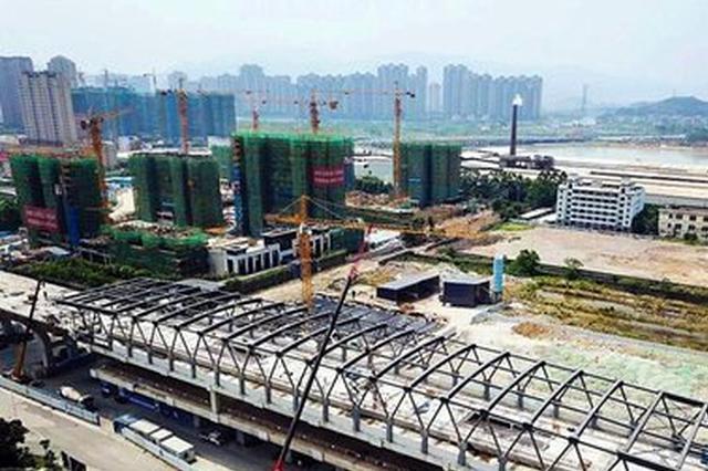 榕地铁6号线营前站钢结构封顶 系福建首座高架地铁站