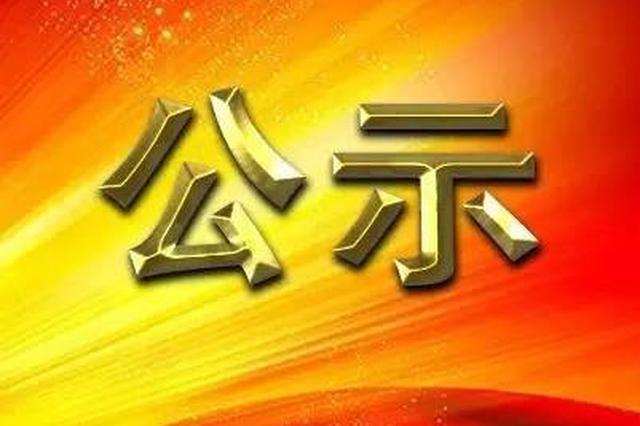 中共漳州市委组织部关于方丽云等同志任前公示的公告