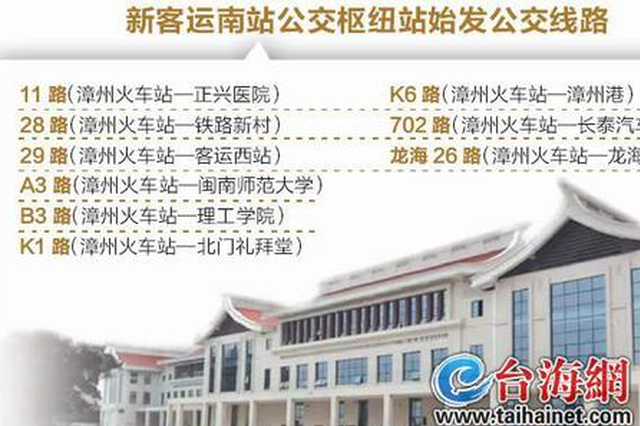 7月起漳州火车站公交枢纽站迁址 下火车无缝换乘公交