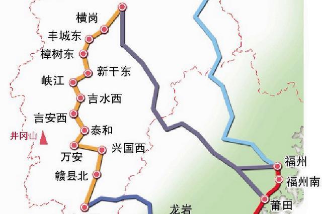 昌赣高铁年底通车 厦门至井冈山可4小时动车直达