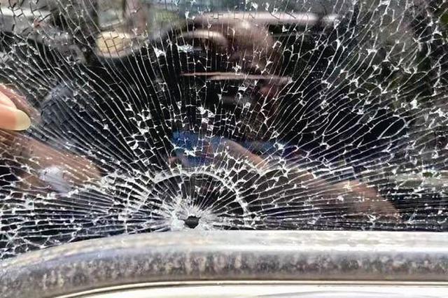 漳州:车辆行驶中飞来两颗铁弹珠 货车司机遭惊魂一幕