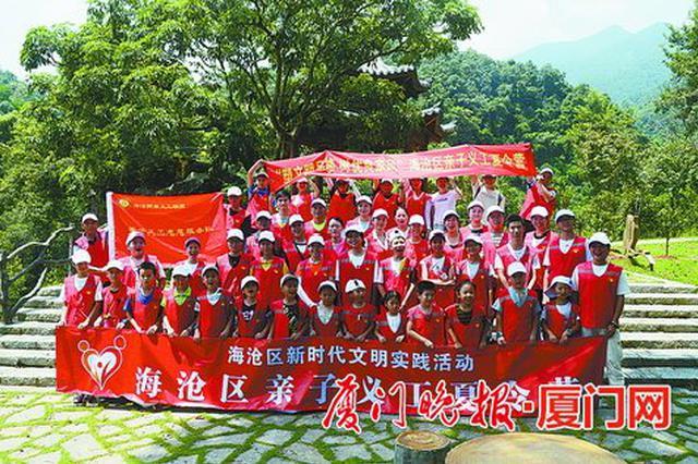 厦门海沧常住人口每十人就有一名志愿者