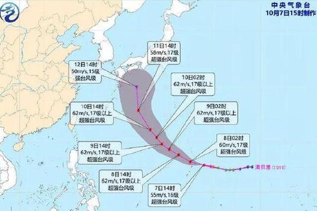 """连跳五级""""海贝思""""成超强台风 对福州暂无影响"""