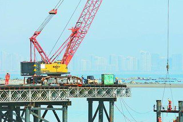 """厦门翔安大桥建设""""多点开花"""" 计划2022年前后通车"""