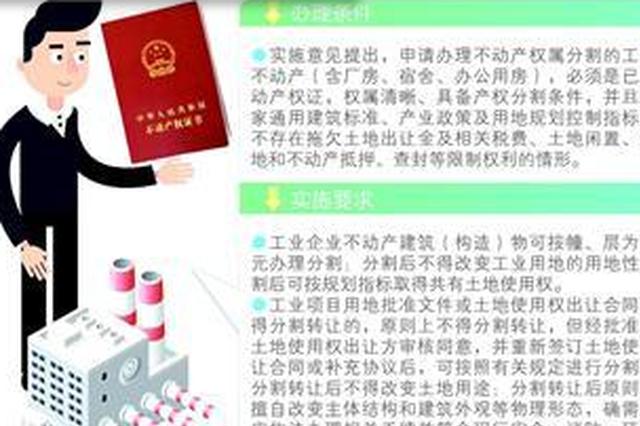 漳州出台新政 厂房可按层办理不动产权