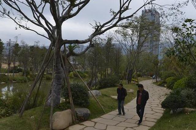 福州市再落成四处串珠公园 充足的休憩设施成标配