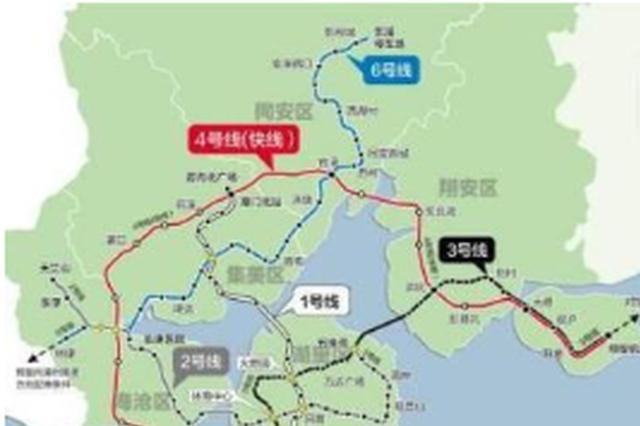 厦门地铁6号线林埭西至华侨大学段将于12月31日开工