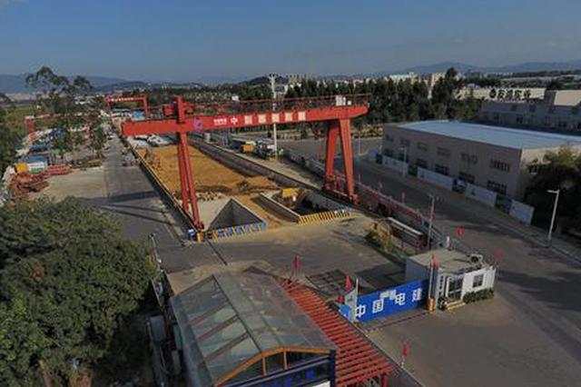 福州地铁5号线吴山站主体结构封顶 车站总长275米