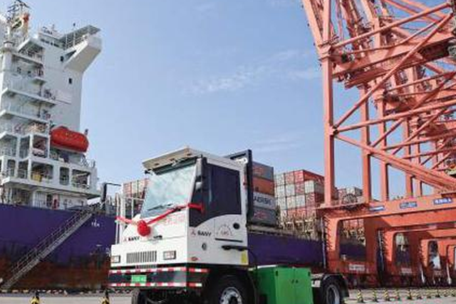 厦门建设新一代绿色生态港口 首批纯电动牵引车投用