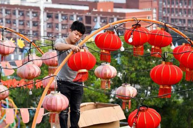 南靖麒麟山花灯亮化项目进行中 春节一同赏灯去!