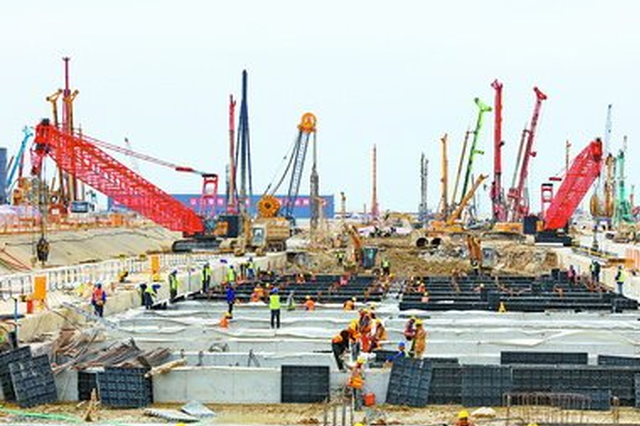 厦门新机场片区70多个项目全速推进 大干快上促建设