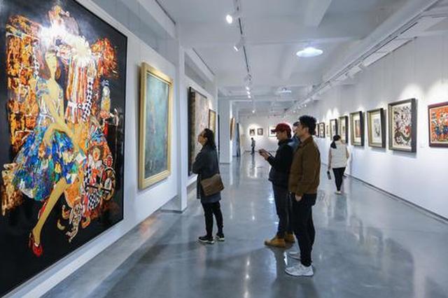 """""""2020红顶迎春名家绘画作品展""""在湖里殿前街道开幕"""