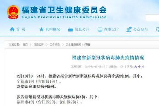 2月18日厦门无新增新冠肺炎确诊病例和疑似病例