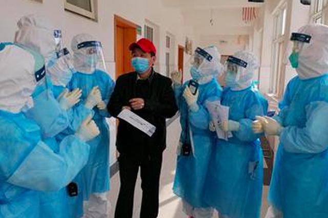 宜昌9名重症患者转轻症 福建护士送上手绘太平面