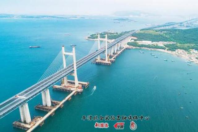 平潭海峡公铁两用大桥平潭段公路桥预计本月底完工