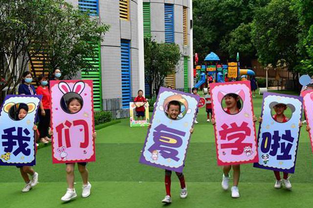福州、平潭等地幼儿园萌娃复学 园方防疫有妙招