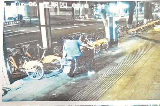 """泉州男子扎坏78辆""""小黄人""""车胎泄愤 一审获刑9个月"""