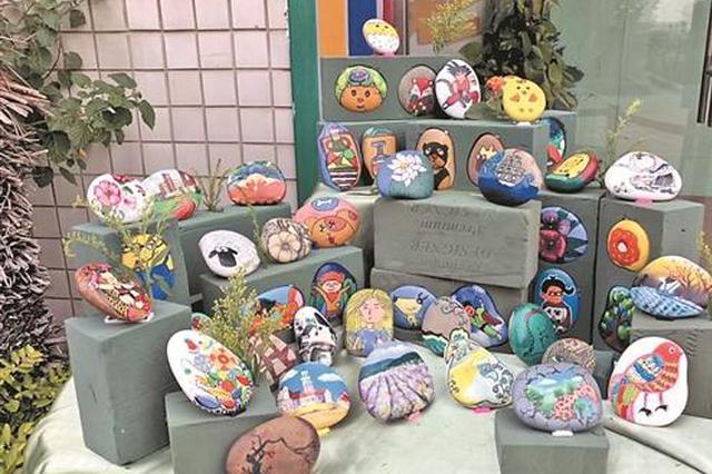 泉州一实验小学少年宫石头彩绘 塑造孩子人格基石