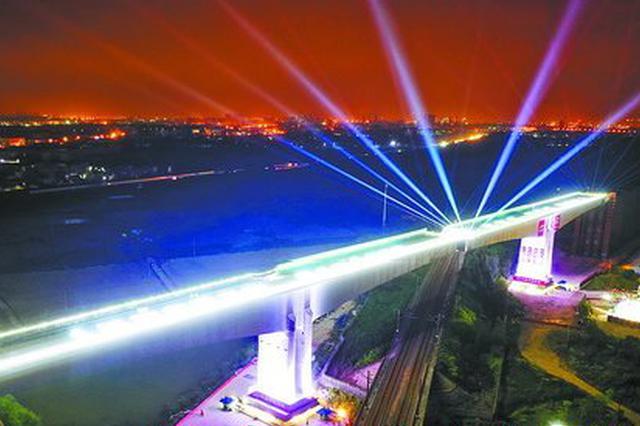 福厦高铁西溪特大桥跨越杭深铁路转体桥成功转体