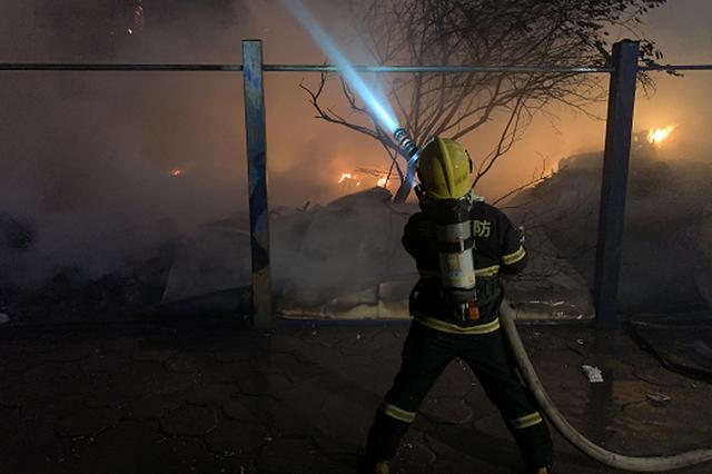 厦门海沧大桥下突发大火 消防紧急出动扑灭