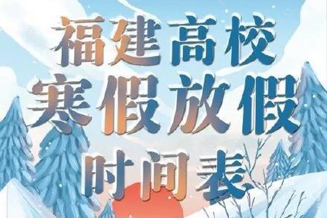 福建高校寒假放假时间确定 最早的是1月6日