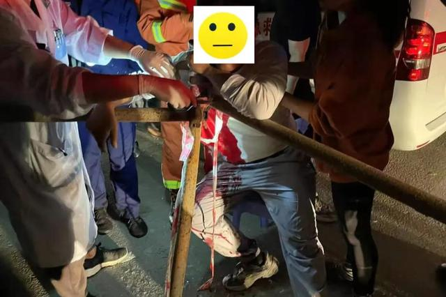 泉州一男子撞上3米长钢管,钢筋穿过右胸腔