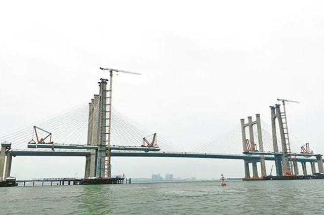 福厦客专泉州湾跨海大桥预计7月合龙