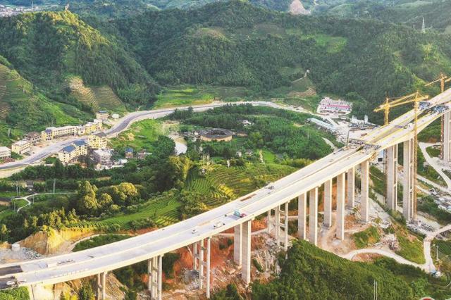 漳武高速书洋特大桥顺利合龙