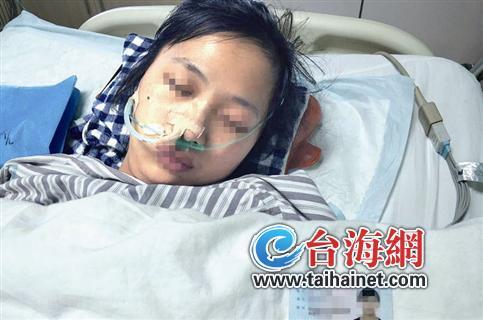 ▲王先生的妹妹在接受治疗