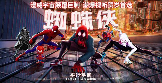 六位蜘蛛侠首次同框大银幕 《蜘蛛侠:平行宇宙》21日上映
