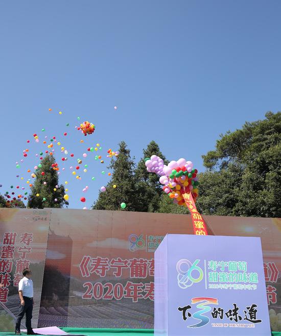 创意葡萄气球启动仪式