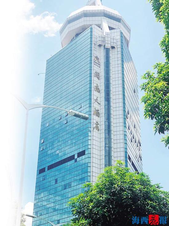 闽南大酒店坐落于闽南大厦内。