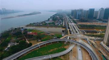 福州橘园洲大桥西桥头匝道将再次施工