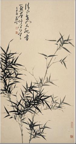 萧峰作品《清寒入肌骨》(纵:143.5厘米 横:75厘米)
