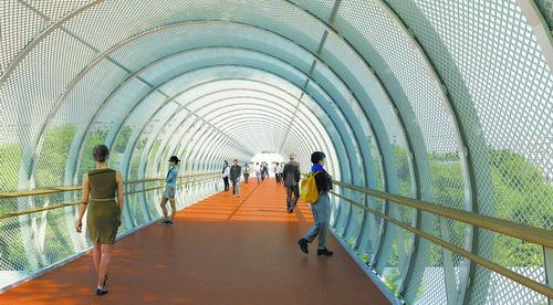 厦门健康步道成功跨越鹰厦铁路 预计年底建成并开放