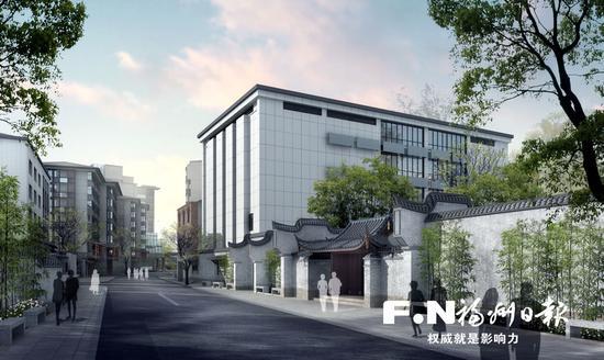 鳌峰坊特色历史文化街区效果图。