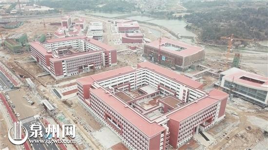 俯瞰福州大学晋江科教园区项目一期