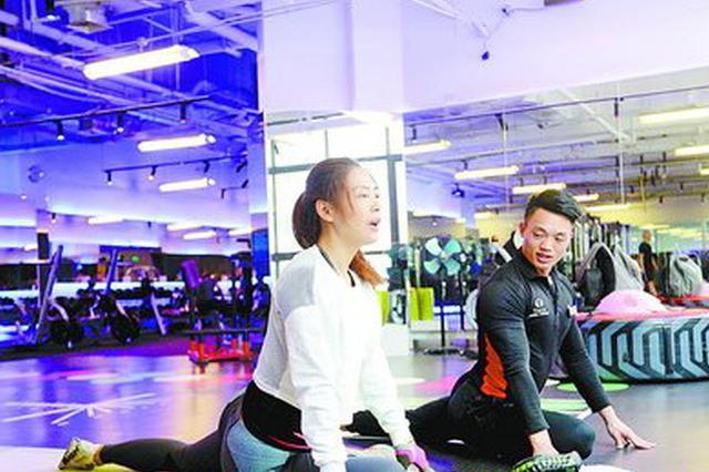 节后不少市民减脂忙加入锻炼队伍 健身私教很吃香
