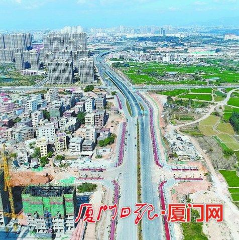 翔安洪钟大道建成通车 集交通和生活功能于一体