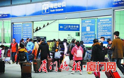 厦门站春运将分口进站 普列乘客只能从南广场进站