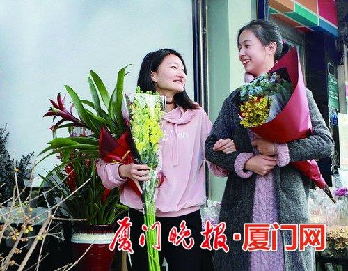 近期厦门花卉市场升温 临近春节花价上涨建议早买
