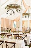 露天婚礼必备 装饰你的华丽帐篷