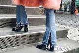 宋茜酷炸天刘亦菲健步如飞 竟是因为穿了粗跟鞋