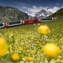 在瑞士火车上别睡 最美的风景就在下一秒