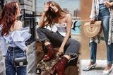 时尚博主示范牛仔裤和夹克的正确打开方式