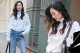 明星爱大牌:刘雯演绎街头时尚舒适优雅两不误